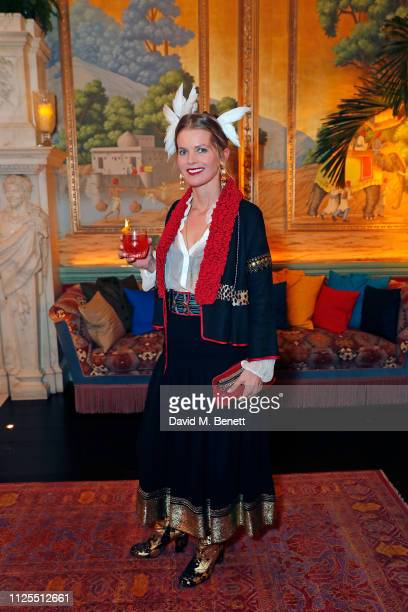 Alexandra Tolstoy attends the Colmar VIP drinks reception during London Fashion Week February 2019 at Annabel's on February 17 2019 in London England