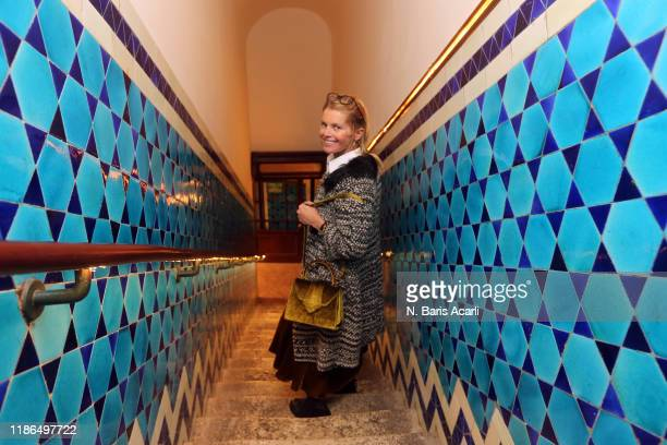 Alexandra Tolstoy poses Grand Bazaar Pandelli Restaurant on November 01 2019 in Istanbul Turkey