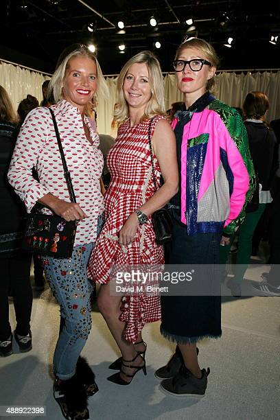 Alexandra Tolstoy Sigrid Kirk and Isabella Macpherson attend the Molly Goddard presentation during London Fashion Week Spring/Summer 2016 at the BFC...