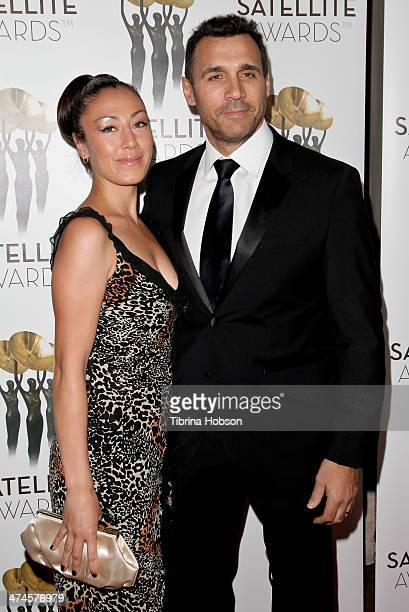 Alexandra Tonelli and Adrian Paul attend the International Press Academy Satellite Awards at InterContinental Hotel on February 23, 2014 in Century...