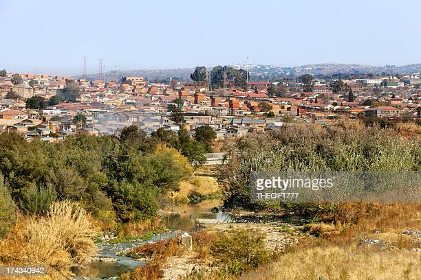 alexandra township and jukskei river - alexandra township stock pictures, royalty-free photos & images