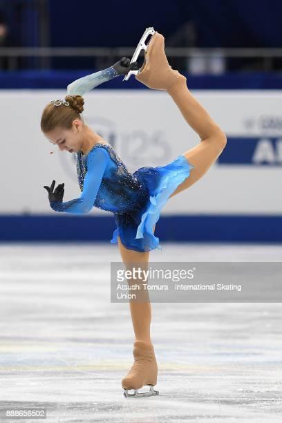 Alexandra Trusova of Russia competes in the Junior ladies free skating dance during the ISU Junior Senior Grand Prix of Figure Skating Final at...