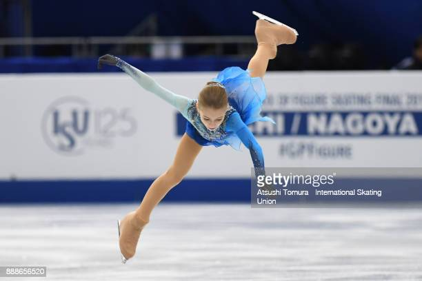 Alexandra Trusova of Russia competes in the Junior ladies free skating dance during the ISU Junior Senior Grand Prix of Figure Skating Final at...