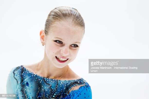 Alexandra Trusova of Russia competes in the Junior Ladies Free Skating during day two of the ISU Junior Grand Prix of Figure Skating at Minsk Arena...