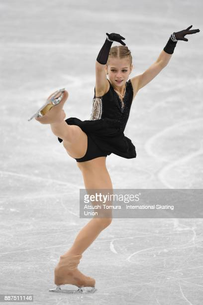 Alexandra Trusova of Russia competes in the Junior ladies short progam during the ISU Junior Senior Grand Prix of Figure Skating Final at Nippon...