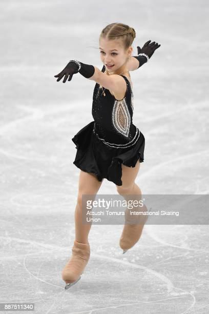 Alexandra Trusova of Russia competes in the Junior ladies short progam during the ISU Junior Senior Grand Prix of Figure Skating Final at Nippon...