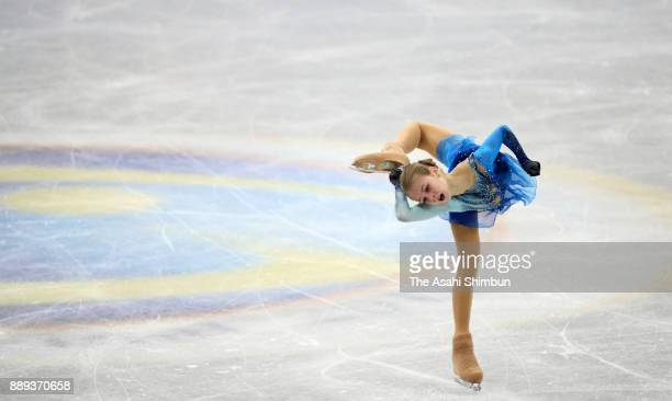 Alexandra Trusova of Russia competes in the Junior Ladies Singles Free Skating during day three of the ISU Junior Senior Grand Prix of Figure Skating...