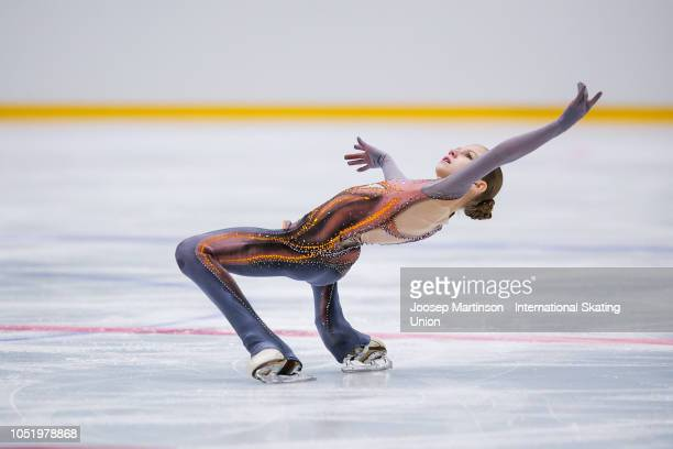 Alexandra Trusova of Russia competes in the Ladies Free Skating during the ISU Junior Grand Prix of Figure Skating at Irina Rodnina Ice Rink on...