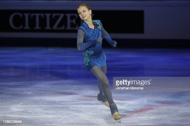 Alexandra Trusova of Russia competes in the Ladies' Free Skating during the ISU Grand Prix of Figure Skating Final at Palavela on December 07, 2019...