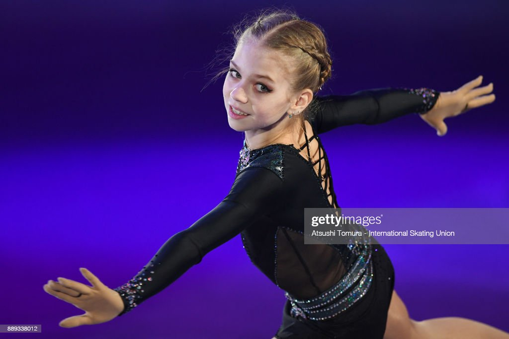 Alexandra Trusova of Russia performs her routine in the Gala exhibition during the ISU Junior & Senior Grand Prix of Figure Skating Final at Nippon Gaishi Hall on December 10, 2017 in Nagoya, Japan.