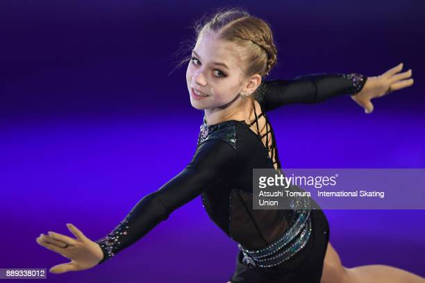 Alexandra Trusova of Russia performs her routine in the Gala exhibition during the ISU Junior Senior Grand Prix of Figure Skating Final at Nippon...