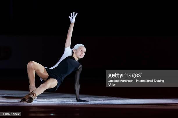 Alexandra Trusova of Russia performs in the Gala Exhibition during day 5 of the ISU World Junior Figure Skating Championships Zagreb at Dom Sportova...