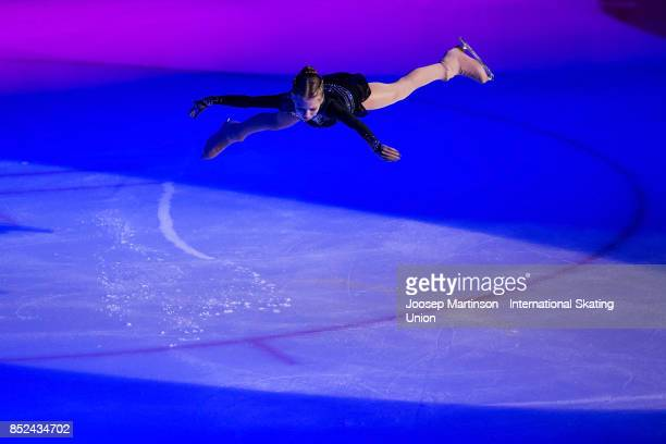 Alexandra Trusova of Russia performs in the Gala Exhibition during day three of the ISU Junior Grand Prix of Figure Skating at Minsk Arena on...