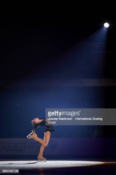 Alexandra Trusova of Russia performs in the Gala Exhibition during the World Junior Figure Skating Championships at Arena Armeec on March 11 2018 in...