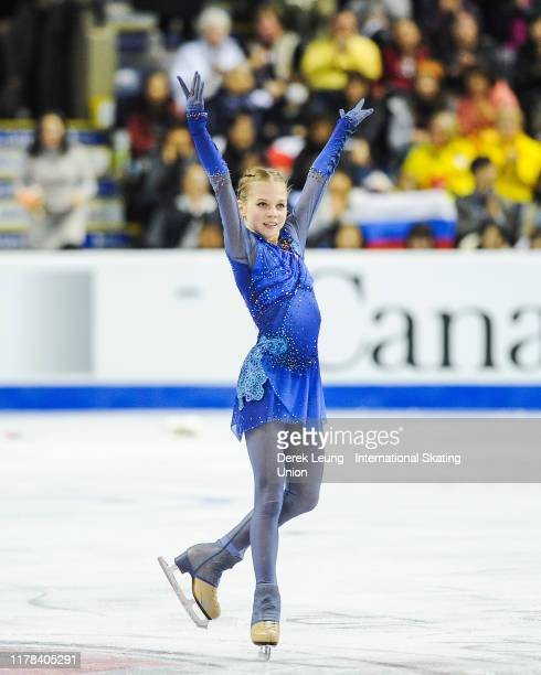 Alexandra Trusova of Russia performs in the ladies free skating She placed first with a score of 16662 during the ISU Grand Prix of Figure Skating...