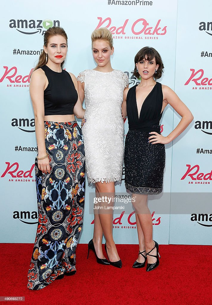 Alexandra Turshen, Gage Golightly and Alexandra Socha attend 'Red Oaks' series premiere at Ziegfeld Theater on September 29, 2015 in New York City.