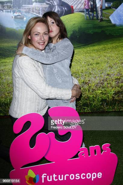 Alexandra Vandernoot and her daughter attend the 25th Futuroscope's Birthday in Poitiers France on December 17 2011