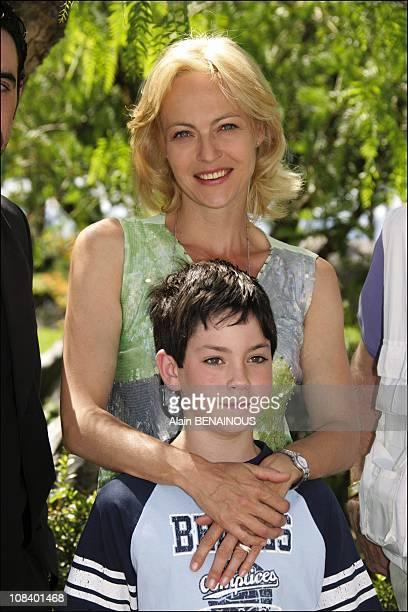 Alexandra Vandernoot and Leo Uzan in Monaco on July 01, 2005.
