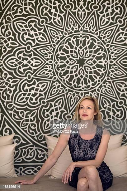 Alexandra Vandernoot In Agadir In Morocco. Agadir , mars 2012 : rencontre avec la comédienne belge Alexandra VANDERNOOT à l'occasion de l'ouverture...