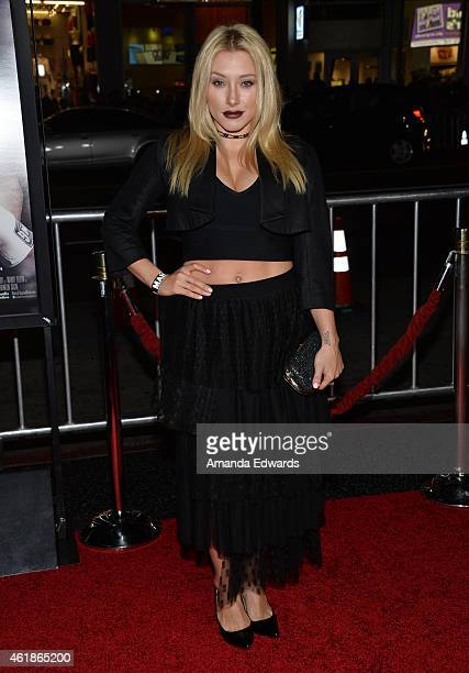 Alexandra Vino arrives at the Los Angeles premiere of 'Manny' at the TCL Chinese Theatre on January 20 2015 in Hollywood California