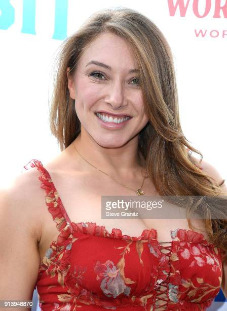 Alexandra Vino arrives at the Premiere Of Columbia Pictures' 'Peter Rabbit' at The Grove on February 3 2018 in Los Angeles California