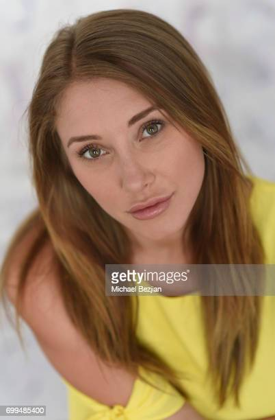 Alexandra Vino poses for portraits with 'New Faces At The Artists Project' on June 21 2017 in Los Angeles California