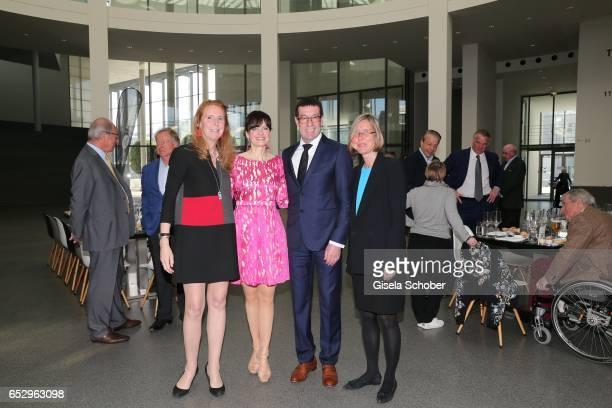 Alexandra von Arnim Sonja Lechner Willi Bonke CEO of Premium Cars Rosenheim and Angelika Nollert during the Gentlemen Art Lunch at Pinakothek der...