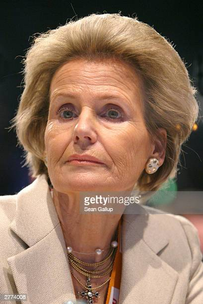 Alexandra von Berlichingen wife of former German president Roman Herzog attends the Christian Democratic Union the main opposition party in Germany...