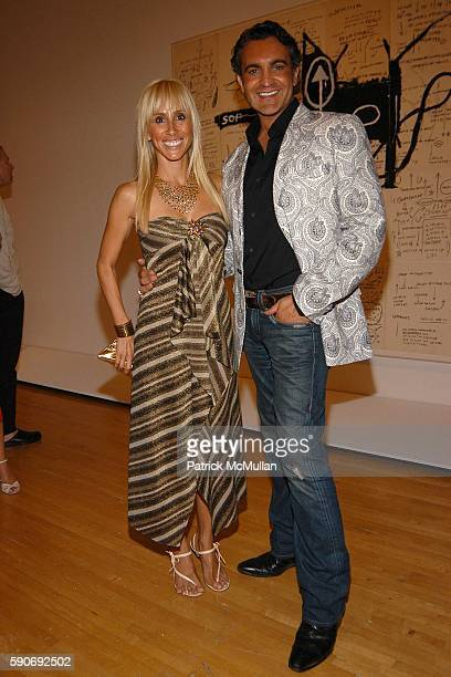 Alexandra von Furstenberg and Martin Lawrence Buillard attend Basquiat Exhibition Preview at MOCA on July 15 2005 in Los Angeles CA
