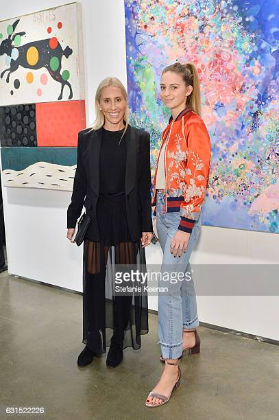 Alexandra Von Furstenberg and Talita Von Furstenberg attend the LA Art Show 2017 opening night premiere hosted by Emma Roberts benefiting St Jude...