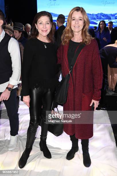 Alexandra Von Rehlingen and Andrea Schoeller attend the Sportalm show during the MBFW Berlin January 2018 at ewerk on January 17 2018 in Berlin...