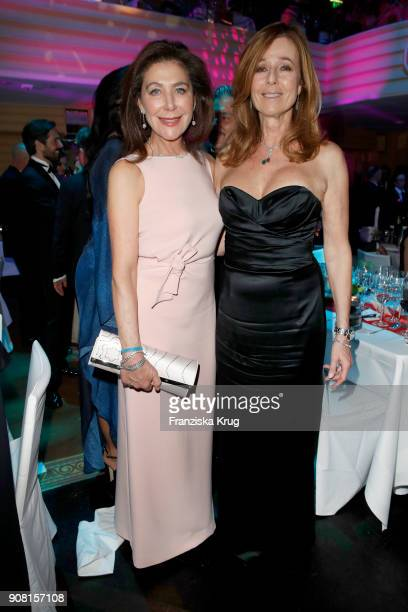 Alexandra von Rehlingen and Andrea Schoeller during the German Film Ball 2018 at Hotel Bayerischer Hof on January 20 2018 in Munich Germany