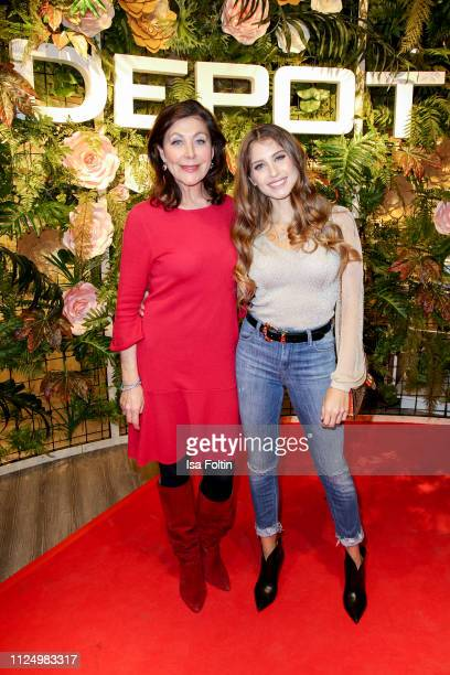 Alexandra von Rehlingen and Cathy Hummels attend the preopening of the new DEPOT flagship store on February 14 2019 in Munich Germany