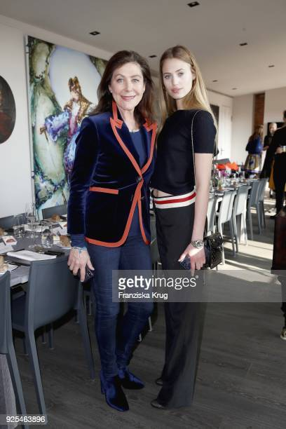 Alexandra von Rehlingen and Cosima Auermann during the Lanserhof Ladies Lunch at Loft am Mauerpark on February 28 2018 in Berlin Germany