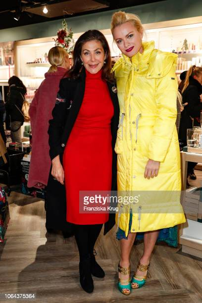 Alexandra von Rehlingen and Franziska Knuppe during the preopening of the DEPOT Flagshipstore Grosse Bleichen on November 22 2018 in Hamburg Germany