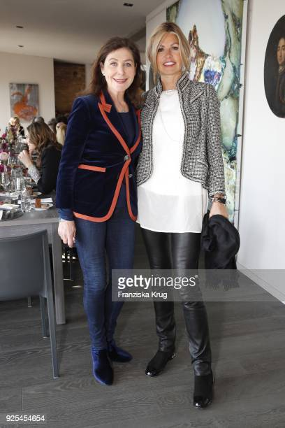 Alexandra von Rehlingen and Franziska Rickmers during the Lanserhof Ladies Lunch at Loft am Mauerpark on February 28 2018 in Berlin Germany