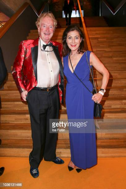 Alexandra von Rehlingen and guest attend the Dreamball 2018 at WECC Westhafen Event Convention Center on September 19 2018 in Berlin Germany