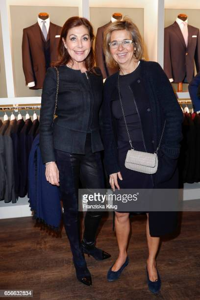 Alexandra von Rehlingen and Inga Griese-Schwenkow attend the Anton Meyer store opening on March 22, 2017 in Hamburg, Germany.