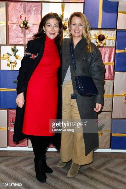 Alexandra von Rehlingen and Jessica Hoyer during the preopening of the DEPOT Flagshipstore Grosse Bleichen on November 22 2018 in Hamburg Germany