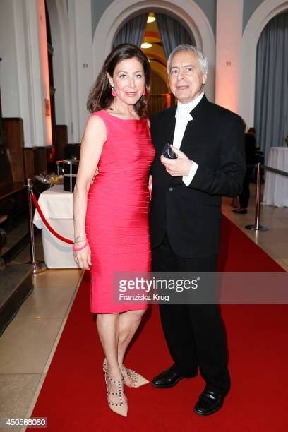 Alexandra von Rehlingen and John Neumeier attend the 'Das Herz im Zentrum' Charity Gala on June 13, 2014 in Hamburg, Germany.