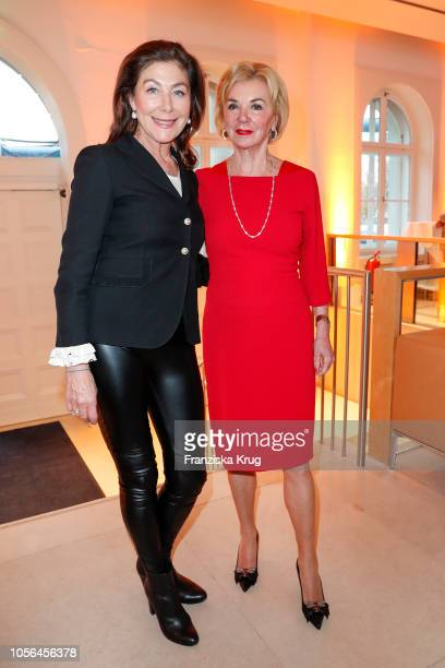 Alexandra von Rehlingen and Liz Mohn during the 25th anniversary celebration of the Deutsche SchlaganfallHilfe at Bertelsmann Repraesentanz on...
