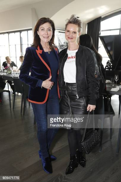Alexandra von Rehlingen and Nicole GaiziunasJahns during the Lanserhof Ladies Lunch at Loft am Mauerpark on February 28 2018 in Berlin Germany
