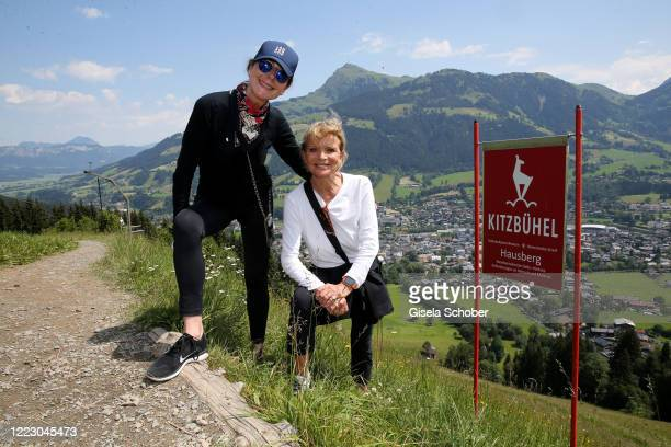 """Alexandra von Rehlingen and Uschi Glas during the first Ladies Day and start of the """"Queens Club"""" hosted by Maria Hoefl-Riesch on June 26, 2020 at..."""