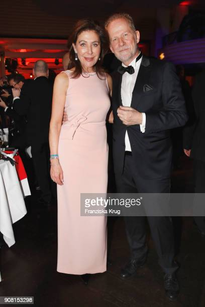 Alexandra von Rehlingen and Vincent de la Tour during the German Film Ball 2018 at Hotel Bayerischer Hof on January 20 2018 in Munich Germany