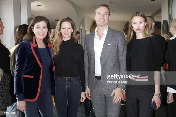 Alexandra von Rehlingen EvaMaria Schmitt Nils Behrens and Cosima Auermann during the Lanserhof Ladies Lunch at Loft am Mauerpark on February 28 2018...
