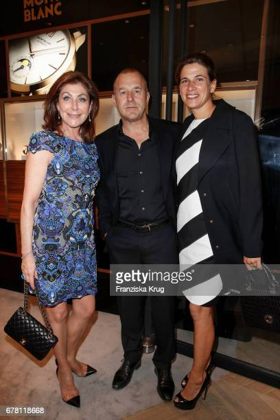 Alexandra von Rehlingen Heino Ferch and his wife MarieJeanette Ferch attend the Montblanc spring party on May 3 2017 in Munich Germany