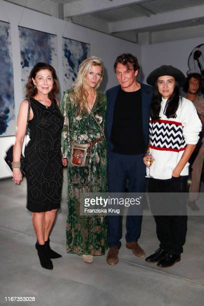 Alexandra von Rehlingen Mia Florentine Weiss Oliver Masucci and Diana Kinnert during the Montblanc de la Culture Arts Patronage Award 2019 at...