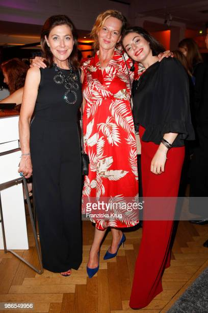Alexandra von Rehlingen Nikki Benett and her daughter Sophia Ninette Luebbe attend the Emotion Award at Curiohaus on June 28 2018 in Hamburg Germany