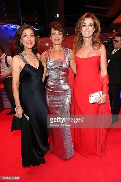 Alexandra von Rehlingen Sabrina Staubitz and Andrea Schoeller during the Bambi Awards 2015 at Stage Theater on November 12 2015 in Berlin Germany