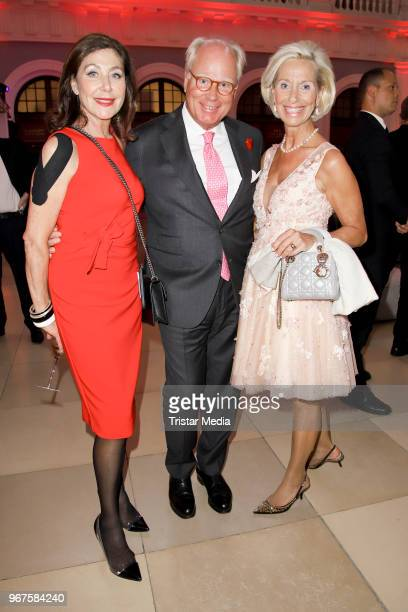 Alexandra von Rehlingen UlrichTroeger and his wife Kristina Troeger attend the Charity Gala 'Das Herz im Zentrum' on June 4 2018 in Hamburg Germany